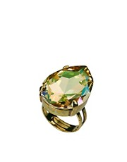 Krystal Swarovski Tear Drop Gem Adjustable Ring