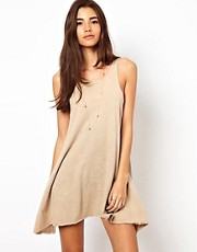 ASOS PETITE Swing Dress In Acid Wash