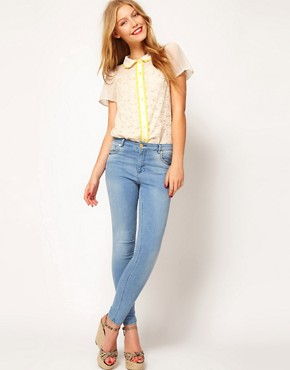 Image 4 ofASOS Blouse With Lace Trims And Embroidery