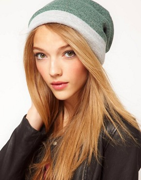 Image 1 ofASOS Mixed Knit Boyfriend Beanie