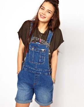 Image 1 ofBellfield Dungaree Shorts