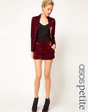 ASOS PETITE Exclusive Shorts With Metallic Sheen