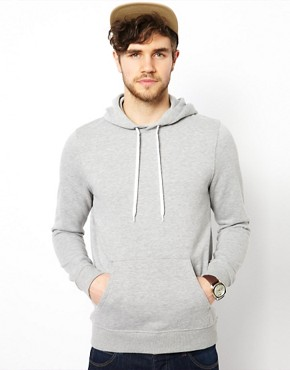 Image 1 ofASOS Hoodie In Heavy Weight Jersey Marl