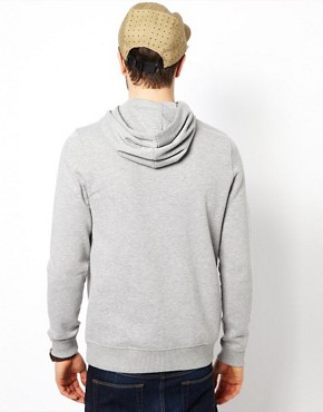Image 2 ofASOS Hoodie In Heavy Weight Jersey Marl