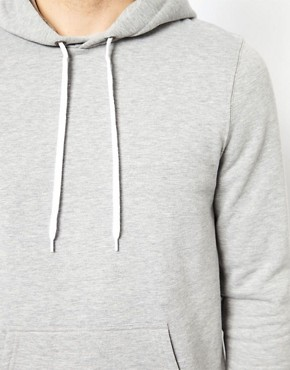 Image 3 ofASOS Hoodie In Heavy Weight Jersey Marl
