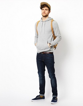 Image 4 ofASOS Hoodie In Heavy Weight Jersey Marl