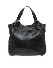 Urban Code Leather Stitch Detail Hobo Bag