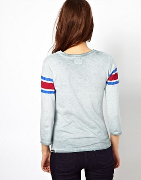 Image 2 ofSuperdry Quarterback Long Sleeved T-Shirt