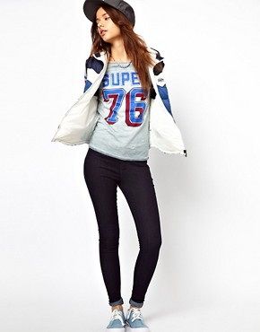 Image 4 ofSuperdry Quarterback Long Sleeved T-Shirt