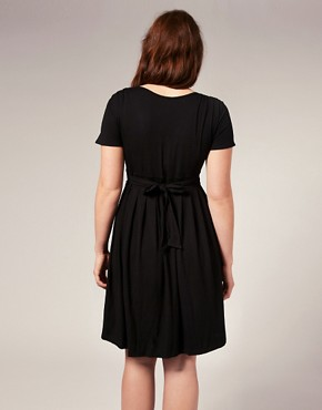 Image 2 ofASOS CURVE Exclusive Jersey Pleat Bust Dress