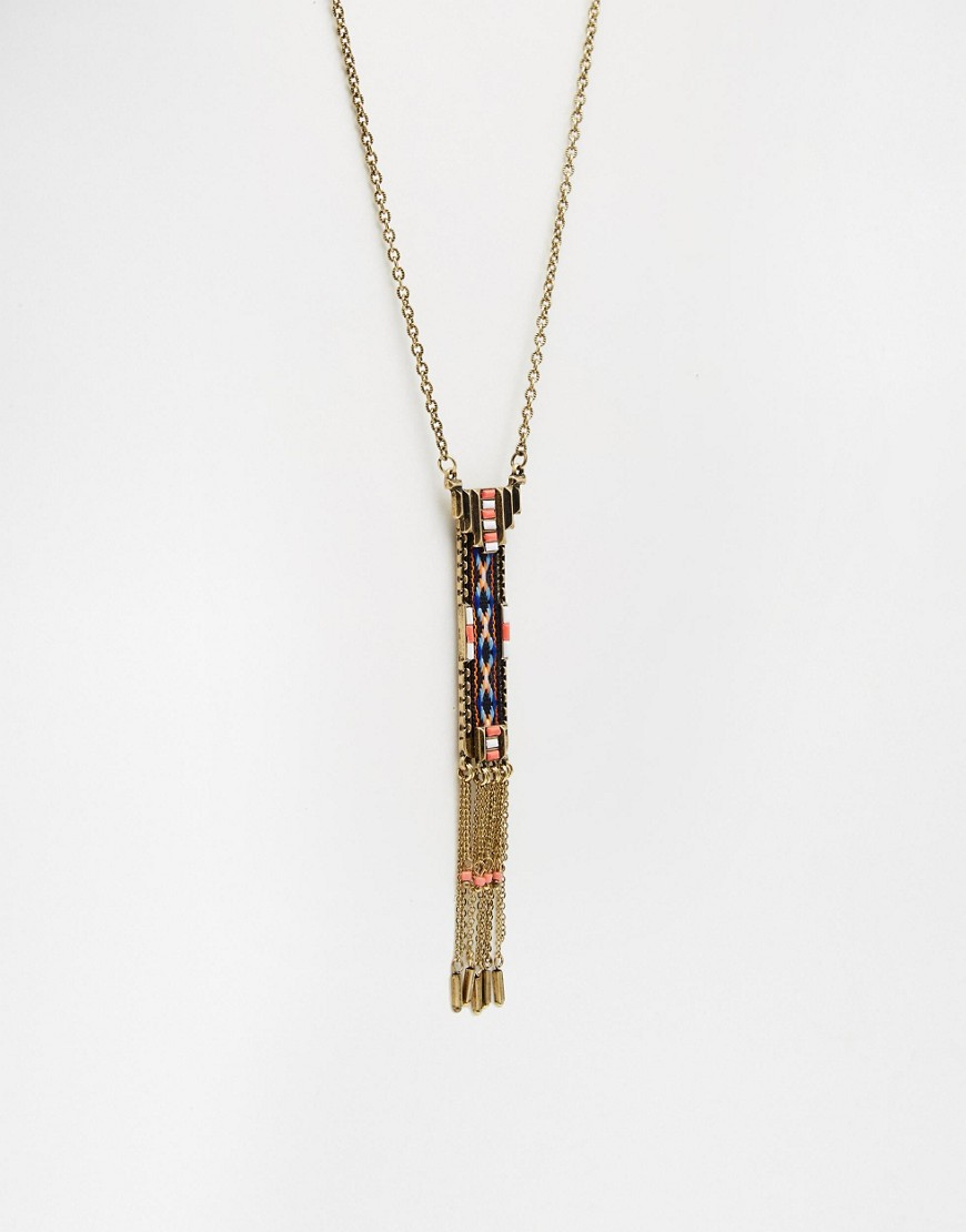 ASOS Festival Bar Necklace - Multi