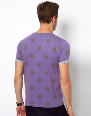 Image 2 of ASOS T-Shirt With All Over Spot Print
