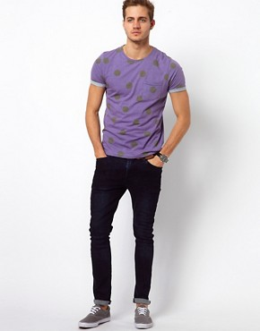 Image 4 of ASOS T-Shirt With All Over Spot Print