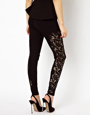 Image 2 of River Island Lace Panel Legging