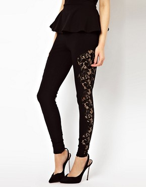 Image 4 of River Island Lace Panel Legging