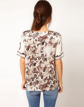 Image 2 ofEmma Cook Silk Top With Rodeo Print