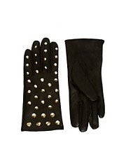 Guantes de cuero con tachuelas de ASOS