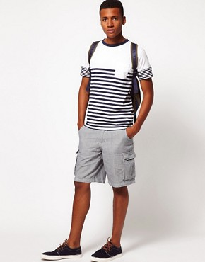 Image 4 ofBellfield Shorts with Ticking Stripe