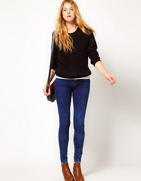 Image 4 ofVila Zip Shoulder Chunky Knit Jumper