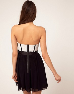 Image 2 ofASOS Skater Dress With Lace Bustier