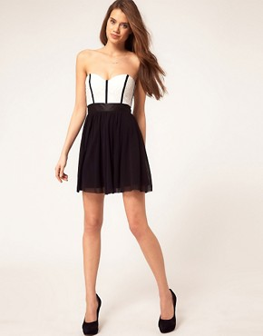 Image 4 ofASOS Skater Dress With Lace Bustier
