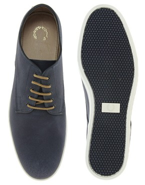 Image 3 ofFred Perry Laurel Wreath Nash Waxed Canvas Shoes