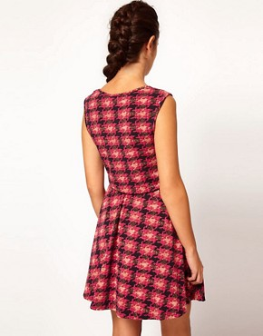 Image 2 ofRiver Island Dogtooth Check Dress