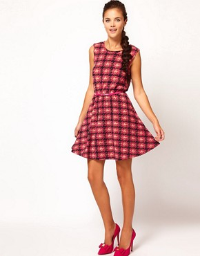 Image 4 ofRiver Island Dogtooth Check Dress
