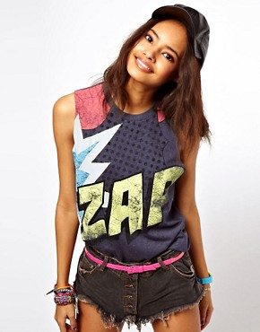 Image 1 ofASOS Vest with Zap Print