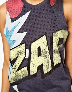 Image 3 of ASOS Vest with Zap Print