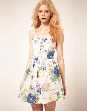 Image 1 ofMotel Pretty Rose Cotton Dress