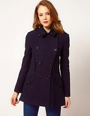 Karen Millen Double Breasted Coat with Pocket Detail