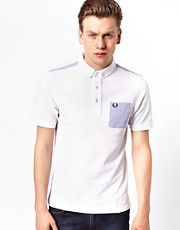Fred Perry Polo with Contrast Seersucker Pocket