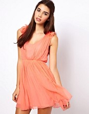 Traffic People Silk Blossom Dress