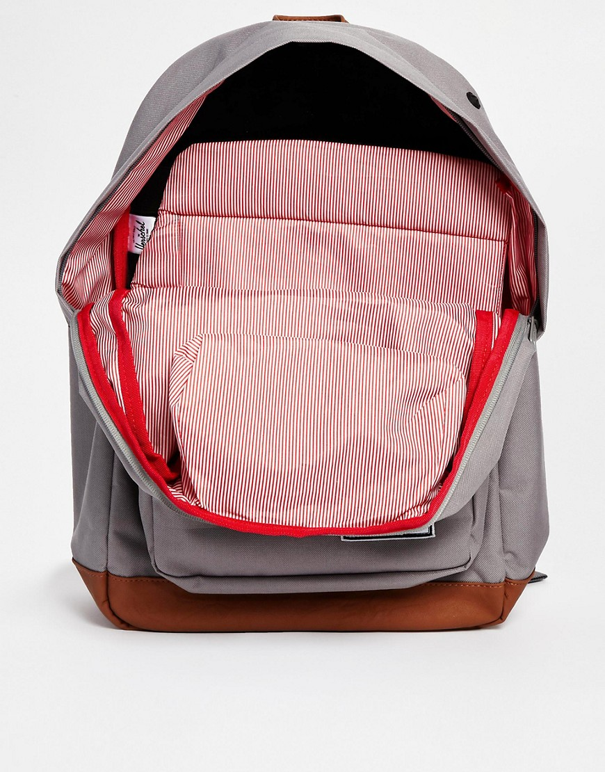 herschel supply co herschel pop quiz rucksack in grau bei asos. Black Bedroom Furniture Sets. Home Design Ideas