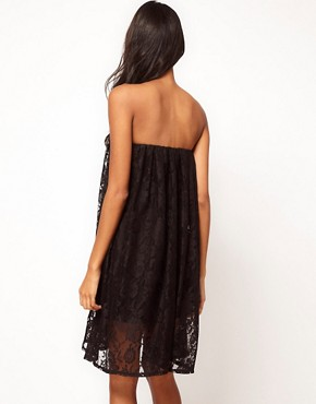Image 2 ofASOS Strapless Dress in Lace