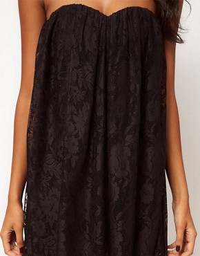 Image 3 ofASOS Strapless Dress in Lace