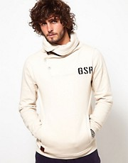G-Star Sweatshirt High Button Shawl Neck