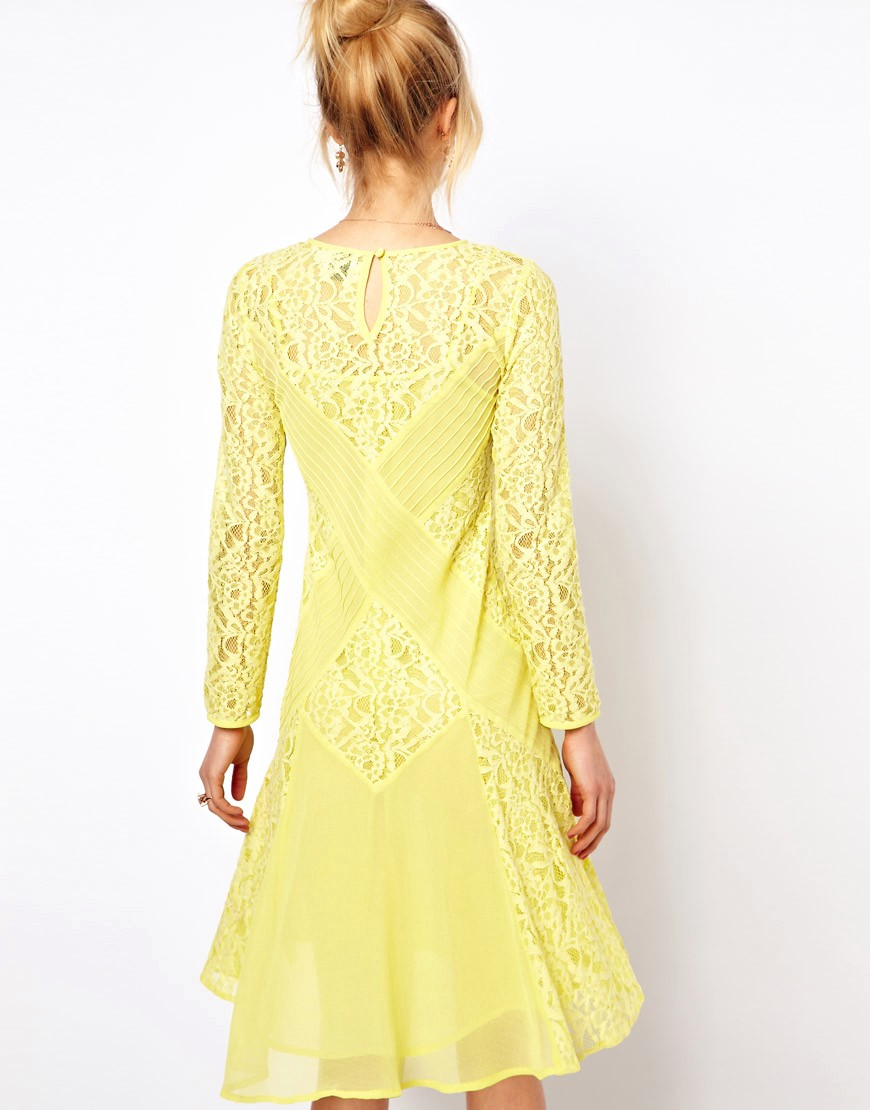 Image 2 of ASOS PETITE Exclusive Midi Dress with Lace