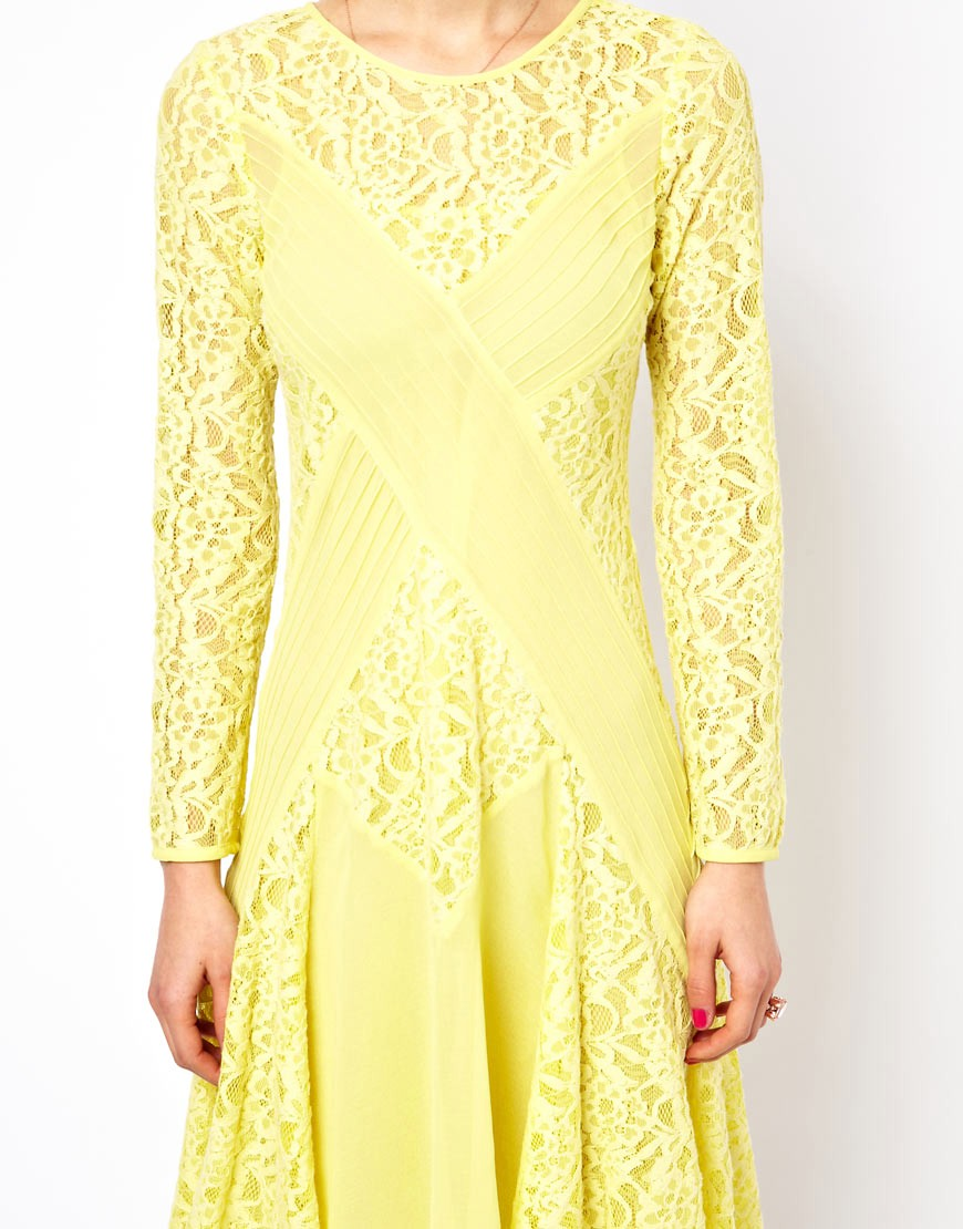 Image 3 of ASOS PETITE Exclusive Midi Dress with Lace