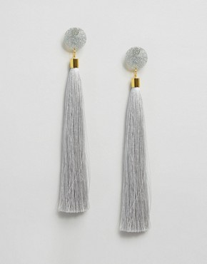 Suzywan Silk Tassel Earrings