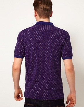 Image 2 ofFred Perry Slim Polo with Paisley Print