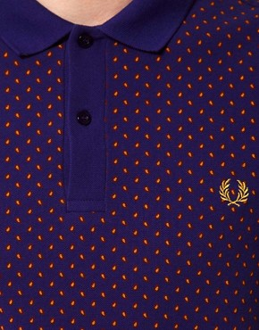 Image 3 ofFred Perry Slim Polo with Paisley Print