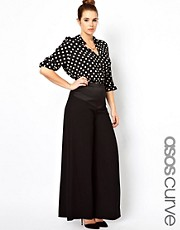 ASOS CURVE Exclusive Premium Wide Leg Trousers