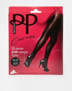Image 3 ofPretty Polly Curves 60 Denier Opaque Tights