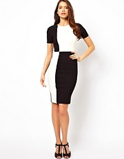 Vesper Dress in Monochrome Check
