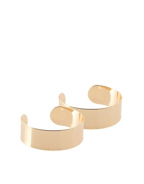 Image 1 ofASOS Pack of Two Thin Smooth Double Cuffs