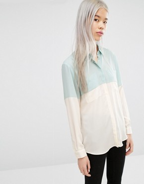 ASOS Colour Block Blouse