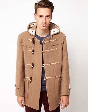 Image 1 ofGloverall Made In London Bolied Wool Short Monty Duffle Coat