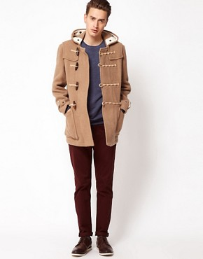 Image 4 ofGloverall Made In London Bolied Wool Short Monty Duffle Coat